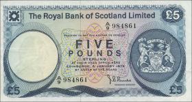 Schottland / Scotland P.337 5 Pounds 1972 (3+)