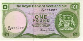 Schottland / Scotland Royal Bank P.341a 1 Pound 1986 (1)