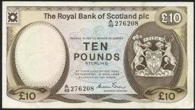 Schottland / Scotland Royal Bank P.343a 10 Pound 1982 (3)
