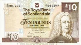 Schottland / Scotland Royal Bank P.348 10 Pounds 1990 (3+)