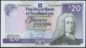 Schottland / Scotland Royal Bank P.349 20 Pounds 1987 (1) low number