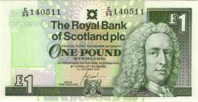 Schottland / Scotland Royal Bank P.351e 1 Pound 2001 (1)