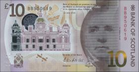 Schottland / Scotland Bank of Scotland P.131 10 Pounds 2016 Polymer (1)