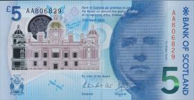Schottland / Scotland Bank of Scotland P.neu 5 Pounds 2016 (1)