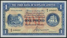 Schottland / Scotland P.S816a 1 Pound 1949 (2+)
