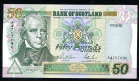 """Schottland / Scotland P.122a 50 Pounds 1995 """"Jubiläum"""" (1)"""