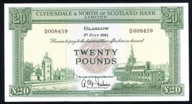 Schottland / Scotland P.193b 20 Pounds 1961 (1)