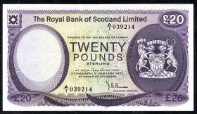 Schottland / Scotland P.339 20 Pounds 1972 (3+)