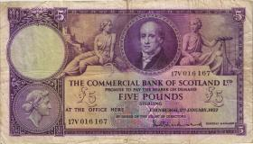 Schottland / Scotland Clydesdale Bank P.S333 5 Pounds 1953 (4)