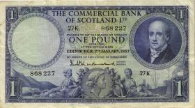 Schottland / Scotland Commercial Bank P.S336 1 Pound 1957 (3)