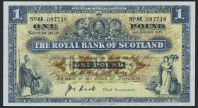 Schottland / Scotland Royal Bank P.324a 1 Pound 1955 (1)