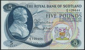 Schottland / Scotland Royal Bank P.328 5 Pounds 1967 (1)