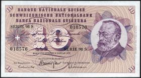 Schweiz / Switzerland P.45u 10 Franken 1977 (1)