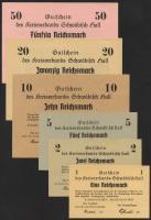 Schwäbisch Hall 1,2,5,10,20,50 Reichsmark 16.4.1945 (1/1-)