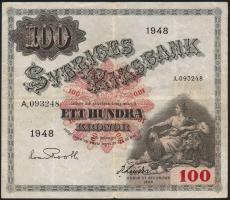 Schweden / Sweden P.36ad 100 Kronen 1948 (3)