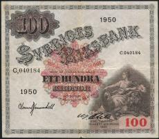 Schweden / Sweden P.36af 100 Kronen 1950 (3)