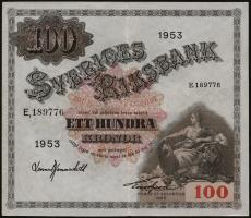 Schweden / Sweden P.36ai 100 Kronen 1953 (2)