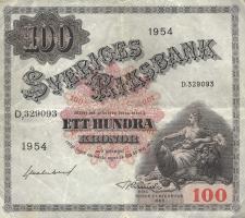 Schweden / Sweden P.36aj 100 Kronen 1954 (3)