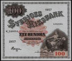 Schweden / Sweden P.45c 100 Kronen 1957 (2+)
