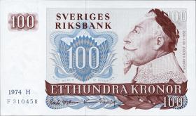 Schweden / Sweden P.54b 100 Kronen 1974 Gustav II. Adolf (1)