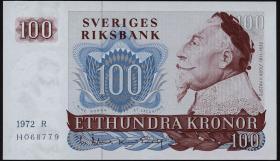 Schweden / Sweden P.54b 100 Kronen 1972  Gustav II. Adolf (1)