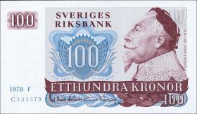 Schweden / Sweden P.54c 100 Kronen 1978 Gustav II. (1)