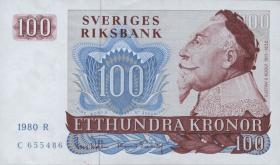 Schweden / Sweden P.54c 100 Kronen 1980 Gustav II. (2+)