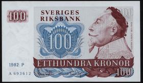 Schweden / Sweden P.54c 100 Kronen 1982 Gustav II. Adolf (1)
