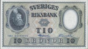 Schweden / Sweden P.43i 10 Kronen 1962 Gustav Wasa (1)