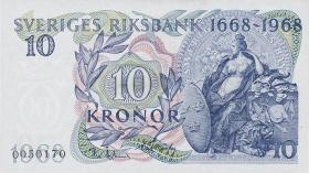 Schweden / Sweden P.56 10 Kronen 1968 300 J. Bank (1)