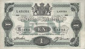 Schweden / Sweden P.32c 1 Krone 1916 (1-)