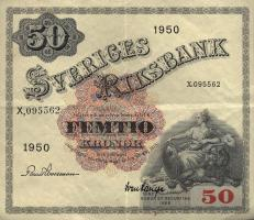 Schweden / Sweden P.35ae 50 Kronen 1950 (3+)