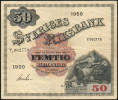 Schweden / Sweden P.35ae 50 Kronen 1950 (3)
