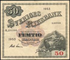 Schweden / Sweden P.35af 50 Kronen 1953 (3)