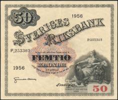 Schweden / Sweden P.44b 50 Kronen 1956 (2-)