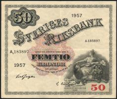 Schweden / Sweden P.44c 50 Kronen 1957 (3)