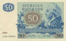 Schweden / Sweden P.53d 50 Kronen 1982-90 Gustav III. (1/1-)