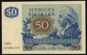Schweden / Sweden P.53d 50 Kronen 1990 Gustav III. (1)