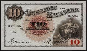 Schweden / Sweden P.34v 5 Kronen 1939 (1)