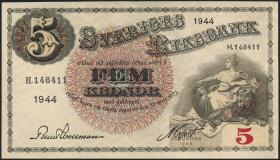 Schweden / Sweden P.33aa 5 Kronen 1944 (1/1-)