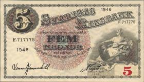 Schweden / Sweden P.33ac 5 Kronen 1946 (1)