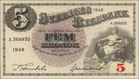 Schweden / Sweden P.33ae 5 Kronen 1948 (1)