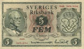 Schweden / Sweden P.41 5 Kronen 1948 (1)