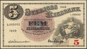 Schweden / Sweden P.33af 5 Kronen 1949 (1)