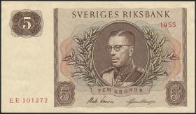 Schweden / Sweden P.42b 5 Kronen 1955 Gustav VI. (1/1-)