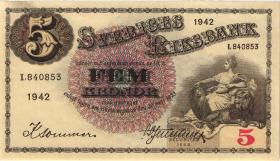 Schweden / Sweden P.33y 5 Kronen 1942 (1/1-)