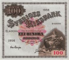 Schweden / Sweden P.45b 100 Kronen 1956 (3)