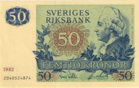 Schweden / Sweden P.53d 50 Kronen 1982 Gustav III. (1/1-)