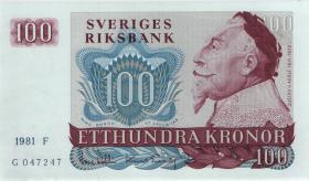Schweden / Sweden P.54c 100 Kronen 1981 (1)