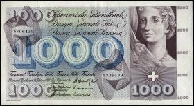 Schweiz / Switzerland P.52j 1000 Franken 1971 (2)